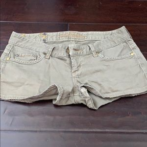Pants - Guess olive shorts. With stud details